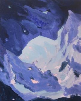 Mount Gonga. Oil, Gloss, Pigment