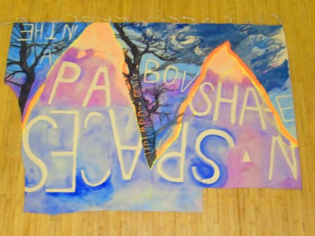Pa Shan, Water colour, Acrylic and Pigment on canvas