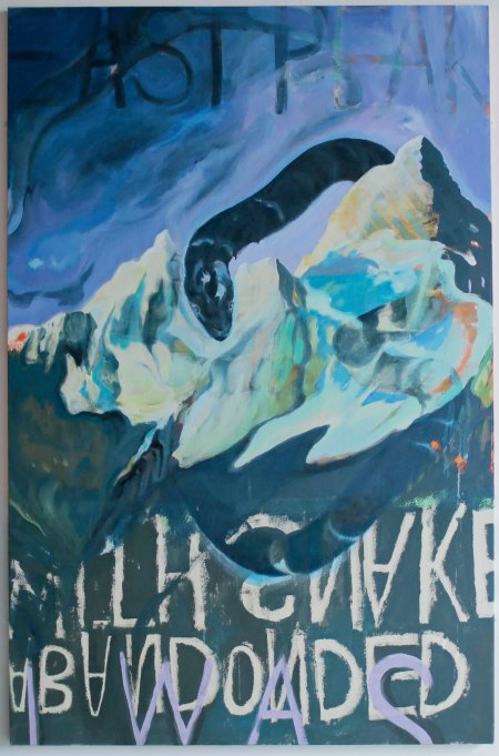 Sacred East Peak. Acrylic, Oil, Gloss, Pigment