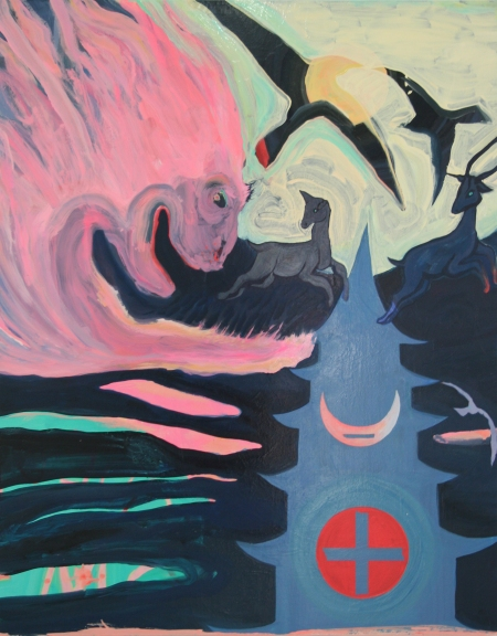 +-Expression Temple, Oil, Pigment, Gloss