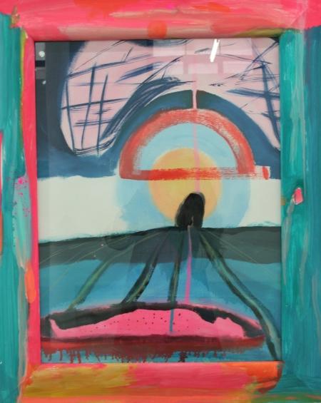 In To The Above R.I.P.J.M, Oil, Pigment, Gloss, on canvas, framed