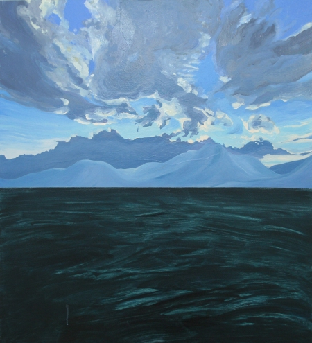 Mountain Clouds, Oil, Pigment, Gloss