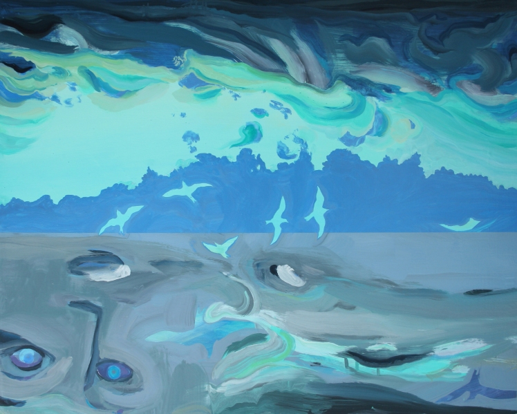 See Sky Sea, Oil, Pigment, Gloss