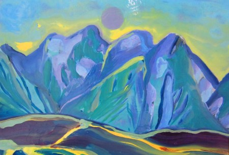 High Arctic, Summer 2016, Oil, Gloss, Pigment on Mountboard